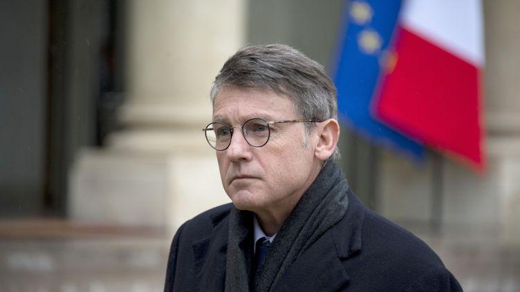 Vincent Peillon, le ministre de l'Education, à l'Elysée, à la sortie du Conseil des ministres, le 29 janvier 2014. (ALAIN JOCARD / AFP)