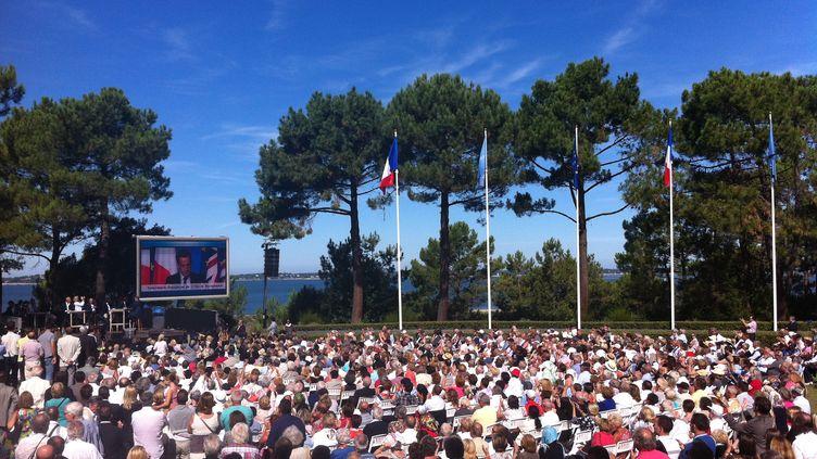 Le meeting des Amis de Nicolas Sarkozy, le 2 septembre 2013 à Arcachon (Gironde). (ILAN CARO / FRANCETV INFO)