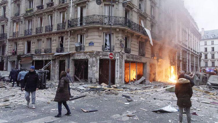 L'explosion rue de Trévise avait eu lieu en janvier 2019. (DANIEL FOURAY / MAXPPP)