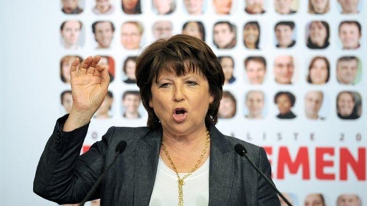 La première secrétaire du PS, Martine Aubry (AFP PHOTO / FRANCK FIFE)