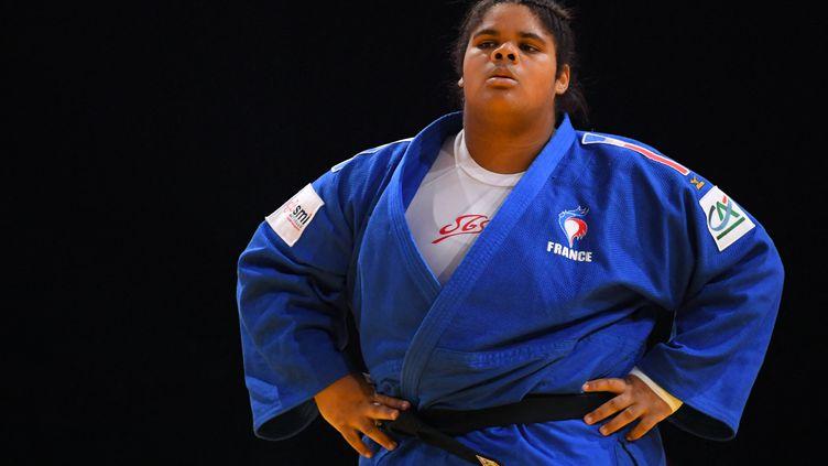 Léa Fontaine vice-championne d'Europe en +78kg, dimanche 18 avril. (PHILIPPE MILLEREAU / KMSP)