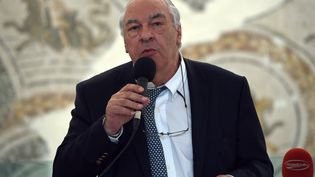Didier Decoin, écrivain, à Tunis le 27 octobre 2015. (FETHI BELAID / AFP)