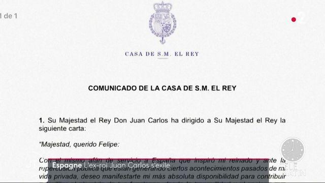 Espagne : soupçonné de corruption, l'ancien roi Juan Carlos veut quitter le pays