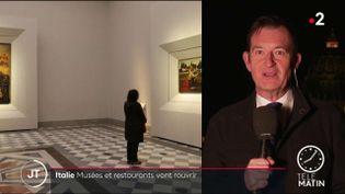 Les musées et restaurants rouvrent, lundi 1er février, dans une grande partie du pays. Le couvre-feu est en revanche maintenu. (France 2)