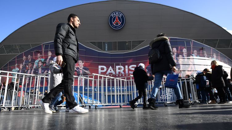 Le Parc des Princes à Paris, le 29 février 2020, avant une rencontre entre le PSG et Dijon. (FRANCK FIFE / AFP)