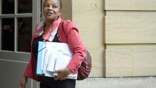 Christiane Taubira, le 6 janvier2016 à l'Hôtel de Matignon. (MARTIN BUREAU / AFP)