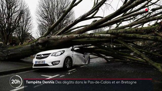 Tempête Dennis : le nord-ouest de la France frappé par les intempéries et les fortes rafales