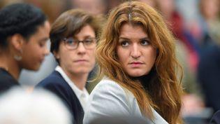Marlène Schiappa, le 28 février 2019, à Pessac (Gironde). (NICOLAS TUCAT / AFP)