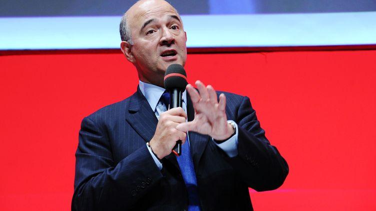 Le ministre de l'Economie et des Finances, Pierre Moscovici, le 24 septembre 2013 à Bordeaux (Gironde). (NICOLAS TUCAT / AFP)