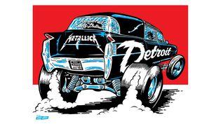 L'affiche signée du duo Ames Bros pour le concert de Metallica du 12 Juillet 2017 à Detroit (Michigan).  (Ames Bros)