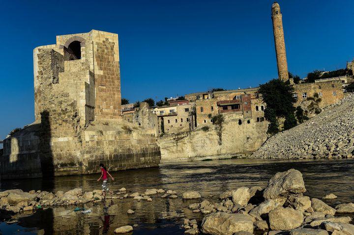 La citadelle de Hasankeyf en Turquie, 2018  (Yasin AKGUL / AFP)
