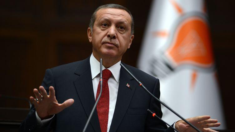 Le Premier ministre turc, Recep Tayyip Erdogan, le 22 avril 2014 à Ankara (Turquie). (AHMET IZGI / ANADOLU AGENCY / AFP)