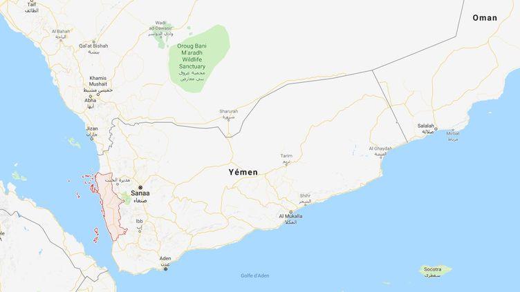 Au moins 22 enfants et quatre femmes ont été tués au Yémen, jeudi 23 août, lors d'une frappe de la coalition dirigée par l'Arabie saoudite dans l'ouest du pays. (GOOGLEMAPS)