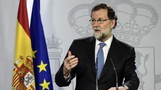 Mariano Rajoyà Madrid, le 27 octobre 2017. (JAVIER SORIANO / AFP)