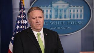 Le secrétaire d'Etat américainMike Pompeo, le 10 janvier 2020, à Washington DC. (YASIN OZTURK / AFP)