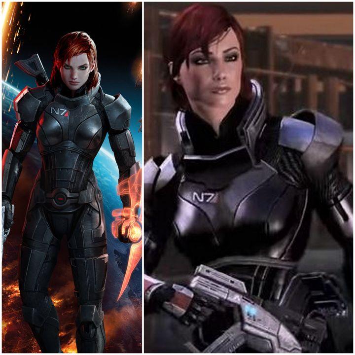 """Le commandant Shepard au féminin, dans """"Mass Effect 3"""" (à gauche) et """"Mass Effect 2"""" (à droite). (YOUTUBE / WIKIMEDIA COMMONS)"""