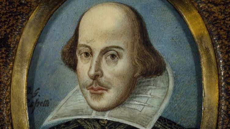 Tableau identifié à un portrait de William Shakespeare (1564-1616)  (Leemage)
