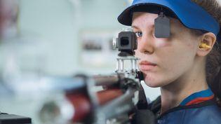 La Française Océanne Muller engagée en tir à la carabine à 10 mètres aux Jeux olympiques de Tokyo. (Fédération Française de Tir)