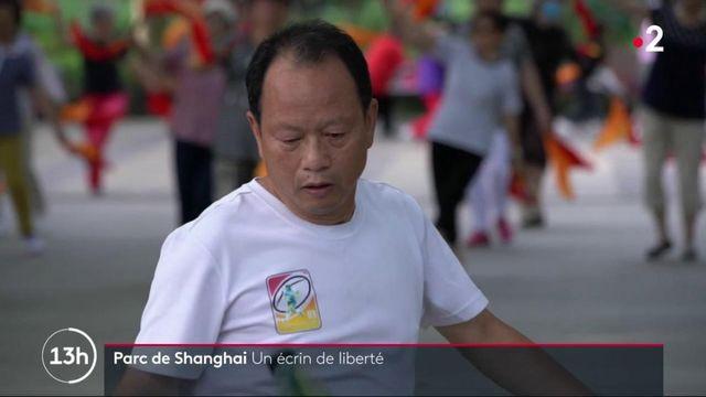 Série : retour des habitants dans le parc Fuxing à Shanghai