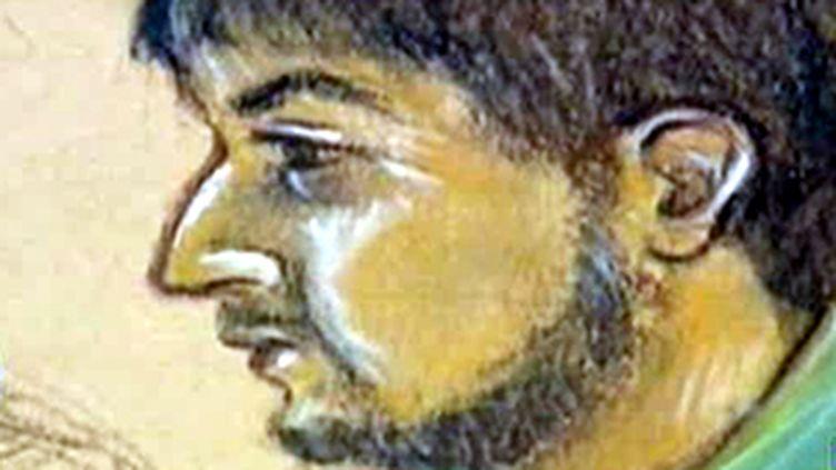 Dessin de Rachid Ramda lors de son premier procès en 1995 (© France 2)