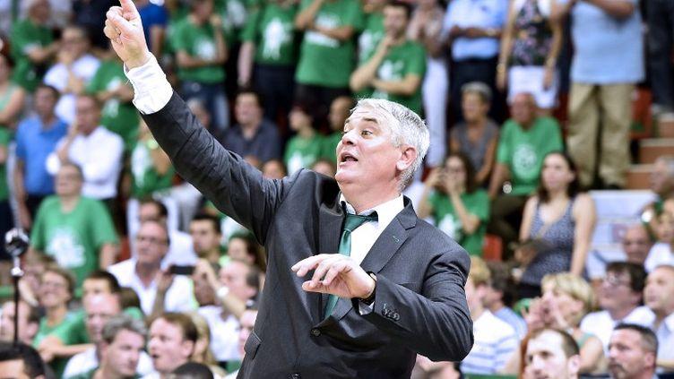 Le coach du CSP Limoges, Philippe Hervé. (PASCAL LACHENAUD / AFP)