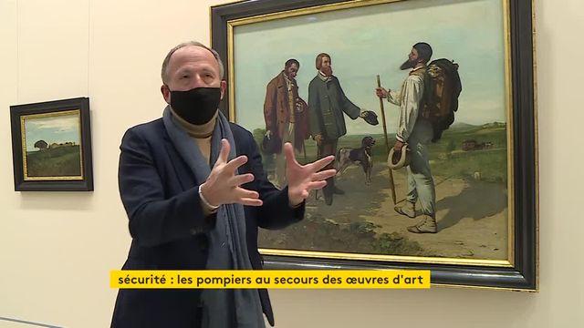 les pompiers se forment a la protection des oeuvres d'art