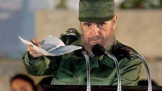 Fidel Castro, alors président de Cuba, en 1999 (ADALBERTO ROQUE / AFP)