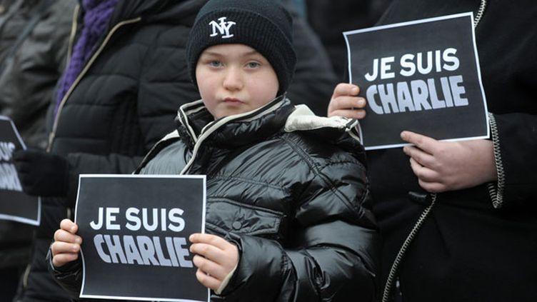(Rassemblement de soutien aux victimes de l'attentat contre Charlie Hebdo, Haguenau (Bas-Rhin) © MaxPPP)