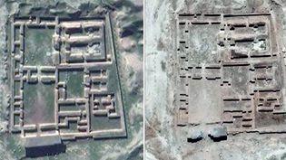 Images satellite de l'UNITAR prouvant la destriction des temples par l'EI  (UNITAR / AFP)