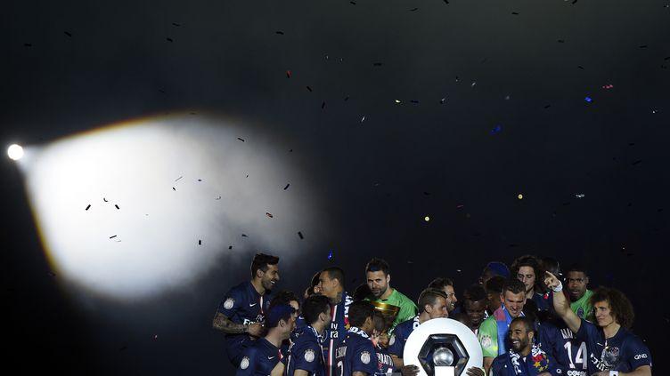 Le PSG champion de France 2014-2015. (FRANCK FIFE / AFP)