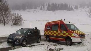 Un quinquagénaire est mort dans une avalanche, dimanche 22 février 2015, sur le massif du Taillefer, en Isère. ( CAPTURE ECRAN FRANCE 2)
