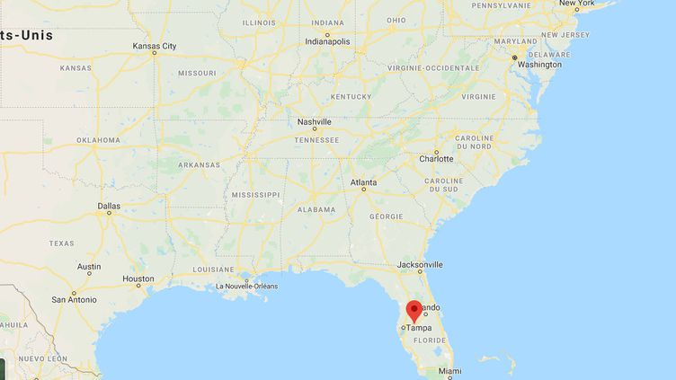 Capture d'écran de Google Maps, montrant la ville de Lakeland, en Floride (Etats-Unis). (GOOGLE MAPS)