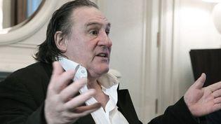 """Gérard Depardieu : """"Grâce au président Poutine, les dessins animés russes sont de retour sur les écrans""""  (Mikhail Klimentyev/AP/SIPA)"""
