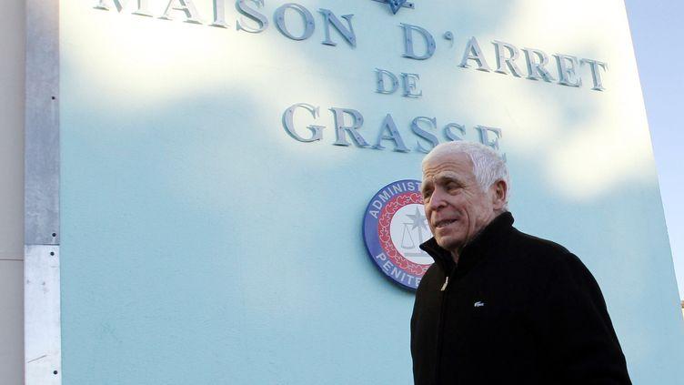 Christian Iacono, 76 ans, arrive à la prison de Grasse (Alpes-Maritimes), le 9 janvier 2012. (VALERY HACHE / AFP)