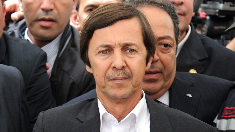 Saïd Bouteflika, frère de l'ancien présidentAbdelaziz Bouteflika, le 19 mai 2012, lors de funérailles à Alger (Algérie). (FAROUK BATICHE / AFP)