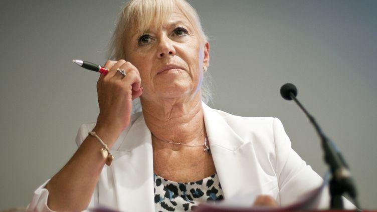La vice-présidente du Front national, Marie-Christine Arnautu, le 16 juin 2011, à Paris. (LIONEL BONAVENTURE / AFP)