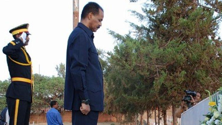 Le président érythréen, Issayass Afeworqi, au Mémorial de la guerre à Asmara (20-6-2012) (AFP PHOTO / PETER MARTELL )