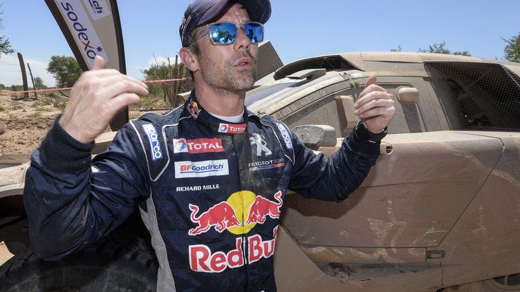Loeb gagne sa 5e étape dans un Dakar. (ERIC VARGIOLU / E.V.A.)