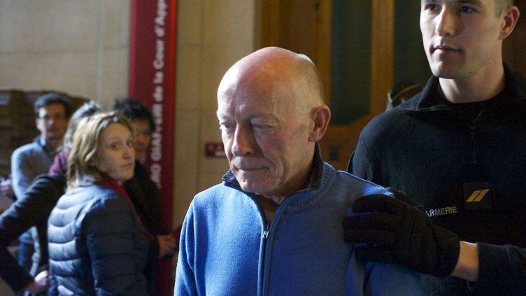 Patrick Henry, condamné à perpétuité en 1977 pour l'enlèvement et le meurtre d'un enfant de 7 ans, photographié le 25 février 2016 à la cour d'appel de Paris. (PATRICE PIERROT / CITIZENSIDE / AFP)