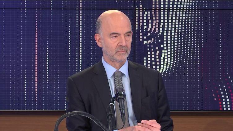 """Pierre Moscovici, premier président de la Cour des comptes était l'invité du """"8h30 franceinfo"""", mercredi 16 juin 2021.  (FRANCEINFO / RADIO FRANCE)"""
