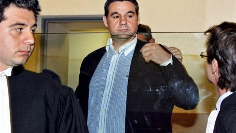 Thierry Chichportich, le 11 mai 2006 au palais de justice de Nice. (AFP/PASCAL GUYOT)