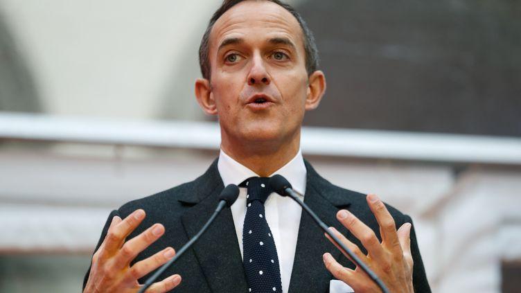 Le directeur de Sciences Po Paris, Frédéric Mion, lors d'une conférence de presse dans la capitale, le 11 janvier 2018. (PATRICK KOVARIK / AFP)