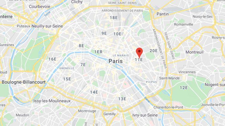 Paris, 11e arrondissement. (GOOGLE MAPS)