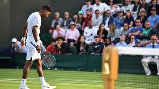 Gaël Monfils s'est incliné une nouvelle fois sur gazon à une semaine du début de Wimbledon. (GLYN KIRK / AFP)