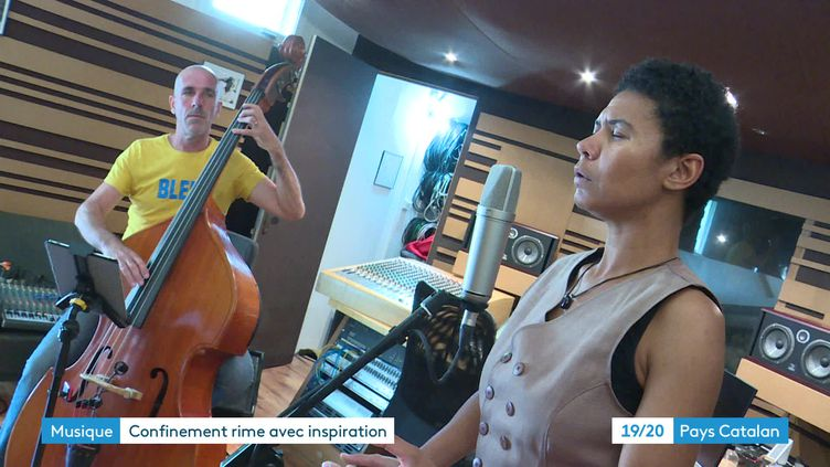 Le Lisa jazz trio dans le studio d'enregistrement JDH à Rivesaltes (France 3 Languedoc-Roussillon)