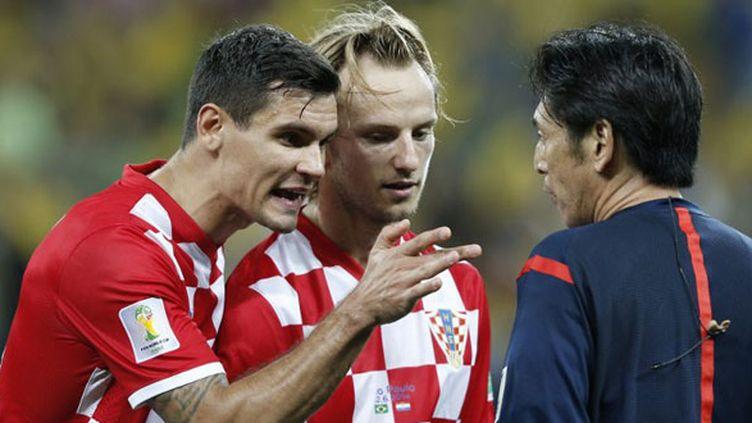 Dejan Lovren, le défenseur croate, était très remonté contre l'arbitre du match d'ouverture du Mondial