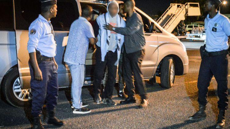 Peter Cherif à Djibouti, lors de son extradition vers la France, le 22 décembre 2018. (HOUSSEIN HERSI / AFP)