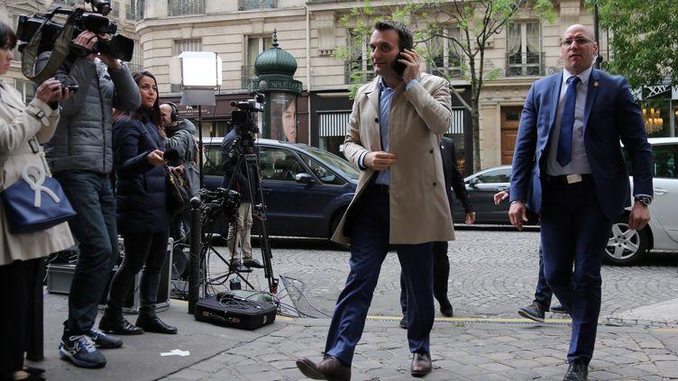 Le vice-président du Front nationalFlorian Philippot le 7 mai 2017 à Paris. (AFP)