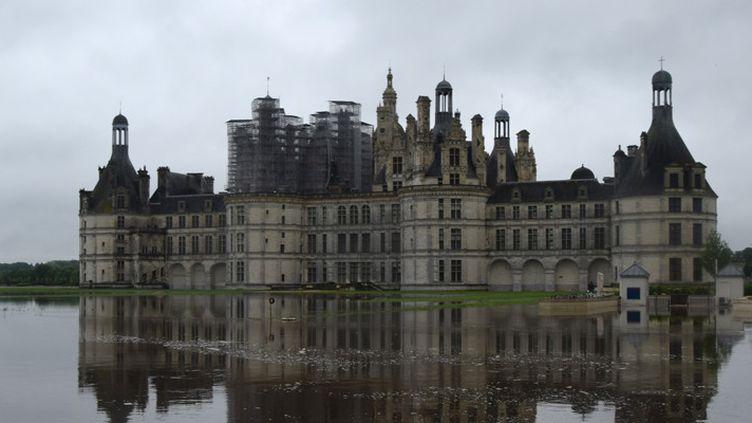 Le Château de Chambord en proie aux inondations, le 1er juin 2016  (A. Leboutey / Domaine national de Chambord / AFP)