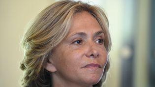 Valérie Pécresse, présidente de la région Île-de-France et candidate à une primaire de la droite, lors d'une rencontre avec le Medef francilien le 25 août 2021. (ERIC PIERMONT / AFP)